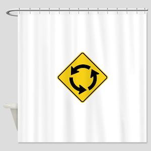 Circular Intersection Sign Shower Curtain