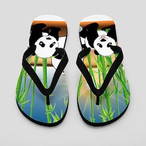 Panda Bears Flip Flops