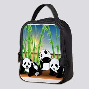 Panda Bears Neoprene Lunch Bag