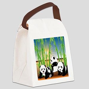 Panda Bears Canvas Lunch Bag