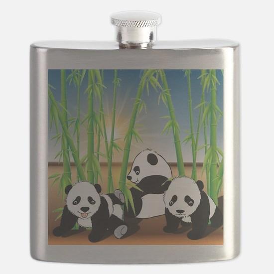 Panda Bears Flask