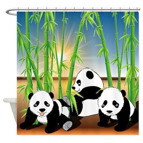 Panda Bears Shower Curtain