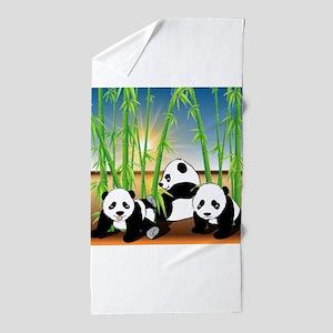 Panda Bears Beach Towel