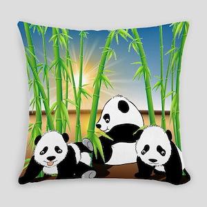 Panda Bears Everyday Pillow