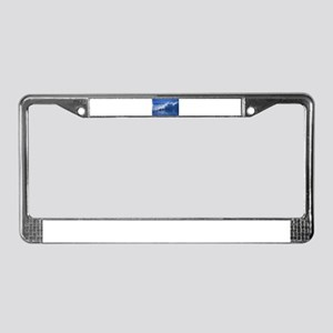 waves License Plate Frame