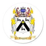 Ruggier Round Car Magnet