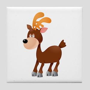 Donkey cartoon Tile Coaster