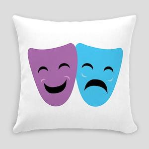 Drama Masks Everyday Pillow