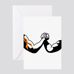 Cancer arm wrestling Greeting Cards