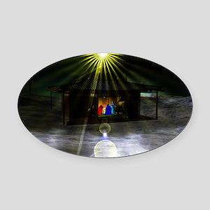 Nav. 1 Oval Car Magnet