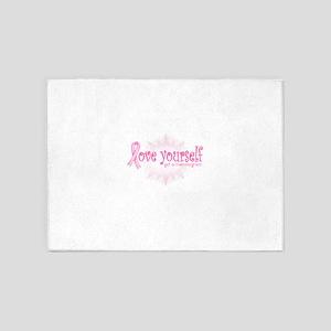 Love yourself 5'x7'Area Rug