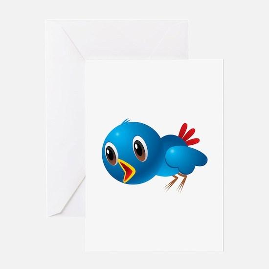 Angry bird cartoon Greeting Cards