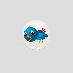 Angry bird cartoon Mini Button
