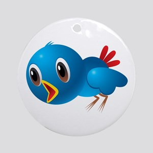 Angry bird cartoon Round Ornament