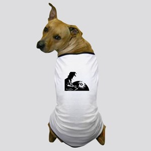 Welder silhouette Dog T-Shirt
