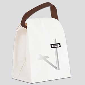 One Way Canvas Lunch Bag