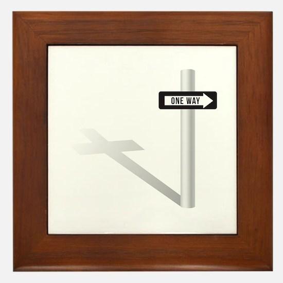 One Way Framed Tile