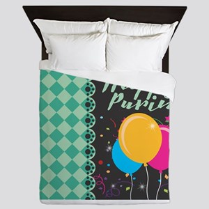 happy purim Queen Duvet