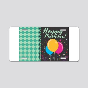 happy purim Aluminum License Plate