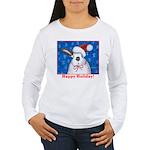Santa Rabbit Women's Long Sleeve T-Shirt