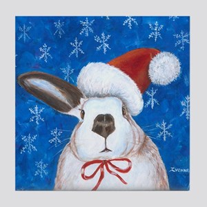 Santa Rabbit Tile Coaster