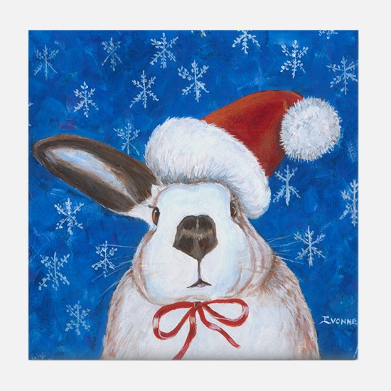 Santa Rabbit Tile Coaster