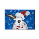 Santa Rabbit Rectangle Magnet (10 pack)