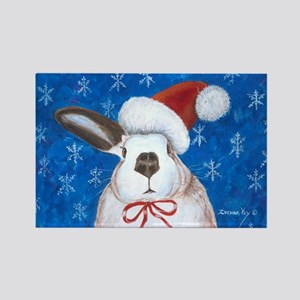 Santa Rabbit Rectangle Magnet