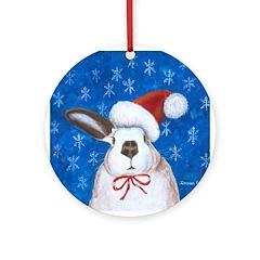 Santa Rabbit Ornament (Round)
