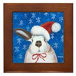 Santa Rabbit Framed Tile