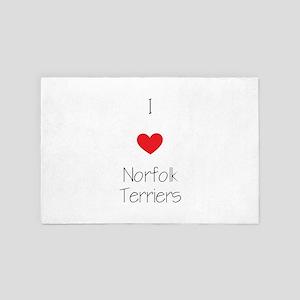 I Love Norfolk Terriers 4' X 6' Rug