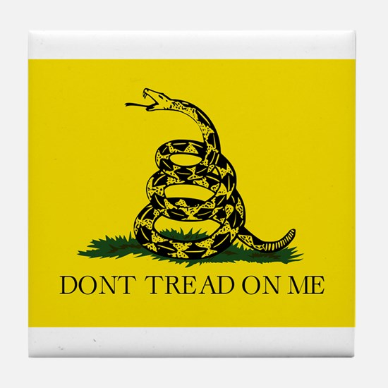 Gadsden Flag - Don't tread on me Tile Coaster