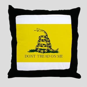Gadsden Flag - Don't tread on me Throw Pillow