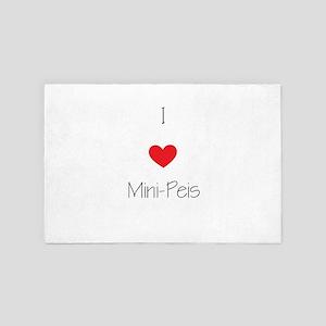 I Love Mini-Peis 4' X 6' Rug