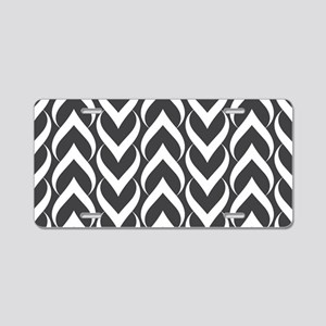 Black and White Pattern Aluminum License Plate