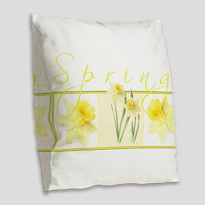 Spring Burlap Throw Pillow