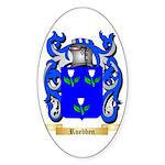 Ruebben Sticker (Oval)