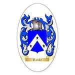 Rubke Sticker (Oval 50 pk)