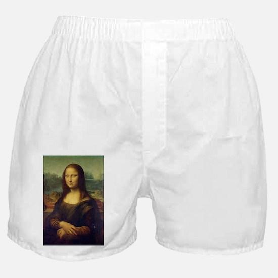 The Mona Lisa - Gioconda - Leonardo d Boxer Shorts