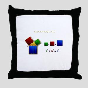 Euclids Pythagorean Theorem Proof Rem Throw Pillow