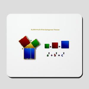Euclids Pythagorean Theorem Proof Remix Mousepad