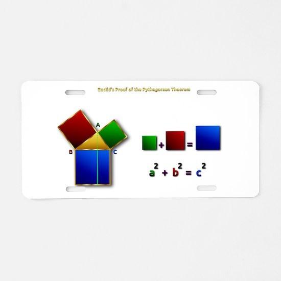 Euclids Pythagorean Theorem Aluminum License Plate