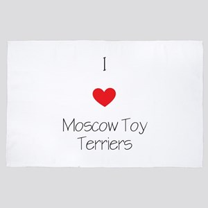I Love Moscow Toy Terriers 4' X 6' Rug