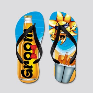 Groom Beer Beach Flip Flops