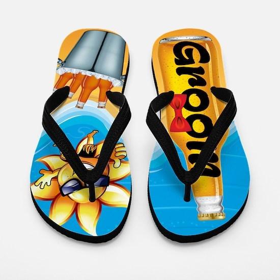 Groom Beer Beach Flip Flops