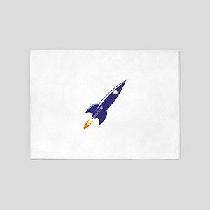 Blue rocket 5'x7'Area Rug