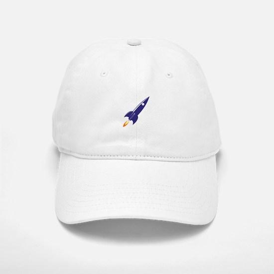 Blue rocket Baseball Baseball Cap
