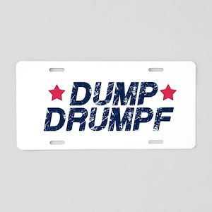Dump Drumpf Aluminum License Plate
