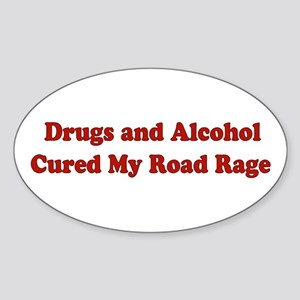 Drugs and Alcohol Oval Sticker