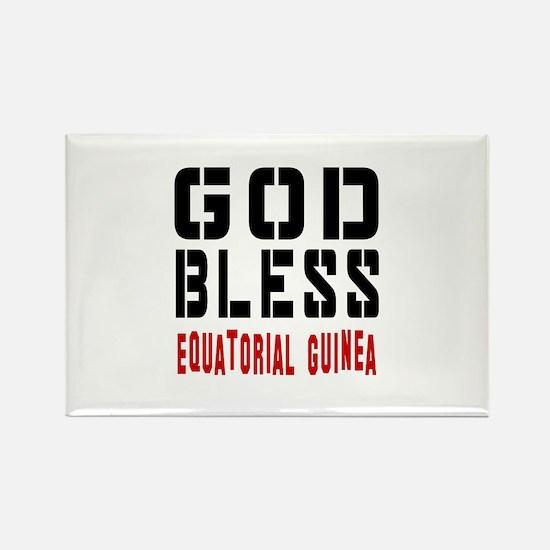 God Bless Equatorial Guinea Rectangle Magnet